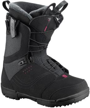 Salomon Pearl Womens Snowboard Boots, UK 6 Black 2020
