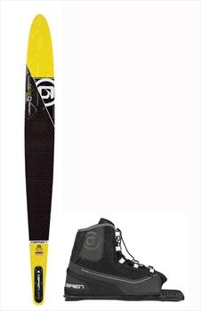 "O'Brien Siege Slalom Water Ski+Binding Package, 66"" | Avid Yellow 2020"