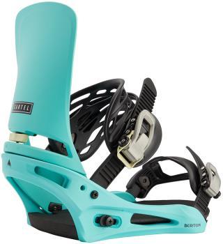 Burton Cartel Re:Flex Snowboard Bindings, Medium Glacier Green 2021