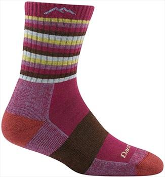 Darn Tough Womens Stripes Micro Crew Midweight Women's Hiking Socks, S Plum