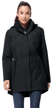 Jack Wolfskin Madison Avenue Women's Waterproof Coat, S Phantom