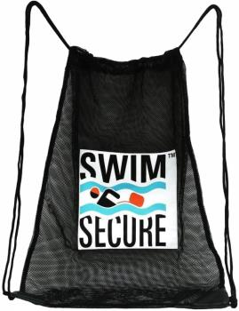 Swim Secure Mesh Drawstring Kit Bag, 48cm X 65cm Black