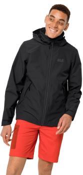 Jack Wolfskin Evandale Waterproof Hardshell Jacket, L Black