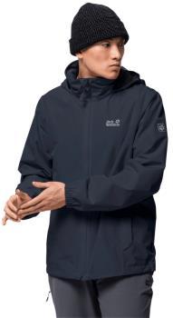 Jack Wolfskin Stormy Point Waterproof Hiking Jacket, L Night Blue