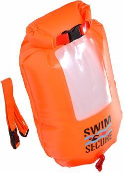 Swim Secure Dry Bag With Phone Window Wild Swimming Pack, 28L Orange