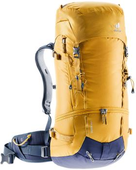Deuter Guide 44+ Technical Alpine Climbing Backpack, 44L Curry/Navy