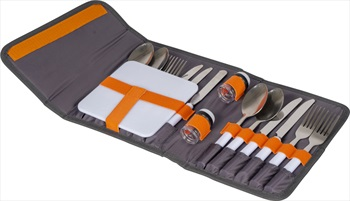 Bo-Camp Picnic Cutlery Set Tableware Set With Carry Case 4-Person Grey