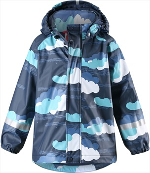 Reima Koski Fleece Lined Jacket Kid's Waterproof Raincoat, Age 5 Navy