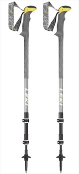 Leki Sherpa XTG Adjustable Trekking Poles, 110-145cm Grey/Yellow