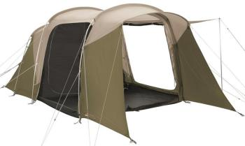 Robens Wolf Moon 4 XP Family Camping Tent, 4 Man Sand/Green