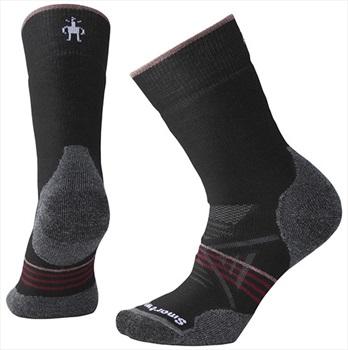 Smartwool PhD Outdoor Medium Crew Women's Hiking Socks, M Black/Red