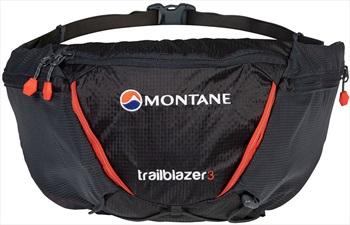 Montane Trailblazer 3 Waist Pack 3L Bum Bag, 3L Charcoal