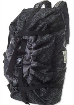 Kavu Shapiro Climbing Rope Backpack Duffel, 30L Black Topo