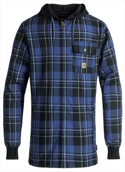 DC Backwoods Ski/Snowboard Tech Zip Hoodie, S Surf The Web Plaid