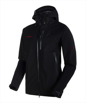 Mammut Masao Jacket Men's Waterproof Hard Shell, S Black