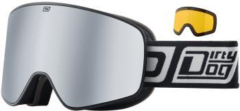 Dirty Dog Mutant Legacy Silver Ski/Snowboard Goggles, L, Matte Black