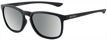 Dirty Dog Shadow Silver Mirror Polarized Sunglasses, Satin Black