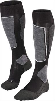 Falke SK6 Merino Wool Men's Ski Socks, UK 8-9 Black-Mix