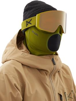 Anon Midweight Neckwarmer MFI Facemask, Relaxed Fit Green
