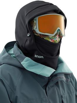 Anon Hooded Balaclava MFI Fleece Facemask, Relaxed Fit Camo Black