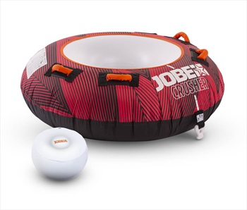 Jobe Crusher Towable Inflatable Tube, 1 Rider Red 2020
