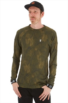 Planks Adult Unisex Fall-Line Base Layer Thermal Top, M Jungle Palm
