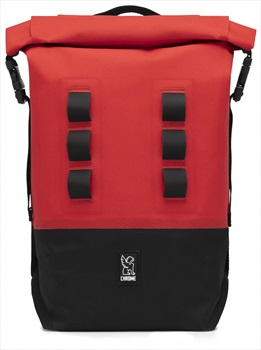 Chrome Adult Unisex Urban Ex Rolltop Backpack, 18L Red/Black