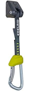 Edelrid Jim Steel Set Rock Climbing Quickdraw, 18cm Snow