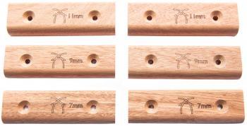 Ash Climbing Micro Edge Set Crimp Climbing Grips, 6-Pack Birch Ply