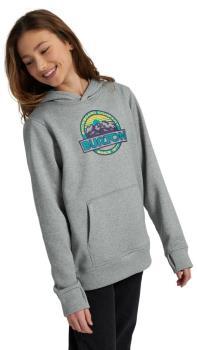 Burton Kid's Kid's Oak Pullover Ski/Snowboard Hoodie, M Gray Heather