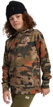 Burton Child Unisex Kid's Oak Zip Up Hoodie, M Kelp Birch Camo