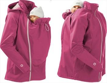 Mamalila Softshell Baby Wearing Maternity Jacket/Coat, UK 14 Pink