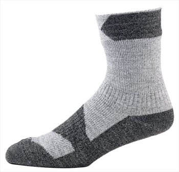 SealSkinz Walking Thin Ankle Waterproof Socks, M Grey Marl/Dark Grey