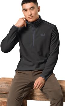Jack Wolfskin Echo Men Hiking Fleece Jumper : L, Black
