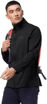 Jack Wolfskin Horizon Stretch Fleece Hoodless Jacket, L Black