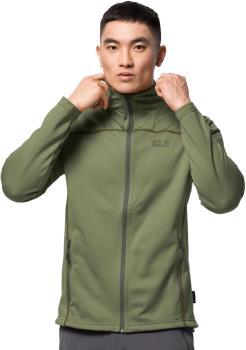 Jack Wolfskin Horizon Stretch Fleece Hoodless Jacket, S Light Moss