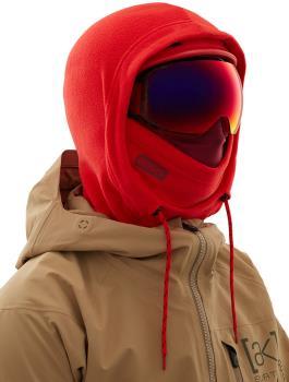Anon Helmet Hood Balaclava MFI Fleece Facemask, Relaxed Fit Red