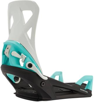 Burton Step On Re:Flex Snowboard Bindings Medium Gray/Black/Teal 2021