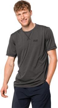 Jack Wolfskin Crosstrail Hiking Short Sleeve T-Shirt, XL Dark Steel