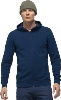 Norrona Falketind Warmwool2 Stretch Zip Hood Fleece Jacket, M Indigo