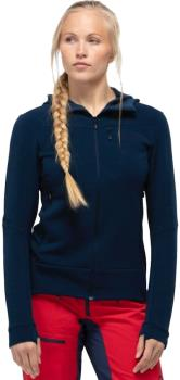 Norrona Falketind Warmwool2 Stretch Hood Women's Fleece UK 10 Indigo