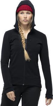 Norrona Falketind Warmwool2 Stretch Hood Women's Fleece, UK 8 Caviar