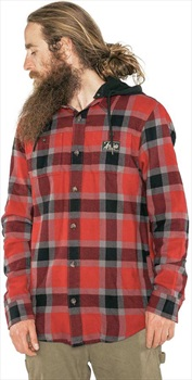 Armada Adult Unisex Reading Flannel Hoodie, M Red Chili