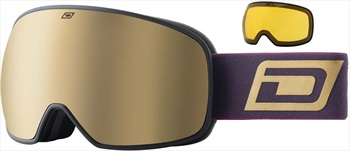 Dirty Dog Mutant 0.5 Gold Kids' Snowboard/Ski Goggles, S Black-Brown