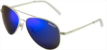 Sinner Morin Pilot/Aviator Blue Oil Anti Slip Sunglasses, Gold Metal