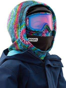 Anon Hooded Fleece Balaclava Kid's MFI Facemask, Relaxed Fit Tie Dye