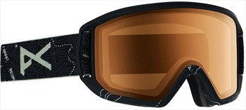 Anon Adult Unisex Relapse Topo Black, Sonar Night Ski/Snowboard Goggles, M/L