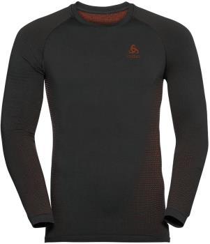 Odlo Performance Warm Eco Men's Base Layer Top, XL Black