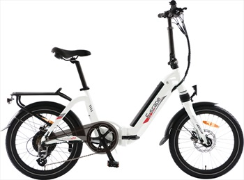 Narbonne E-Scape Comfort Plus E-Bike Folding Electric Bicycle White