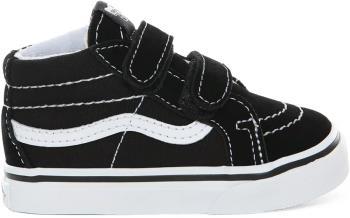 Vans Sk8-Mid Reissue V Toddler Skate Shoes, UK T5 Black/True White